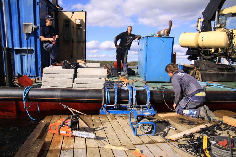 Underwater pipeline svensbyfjärden sse engelska