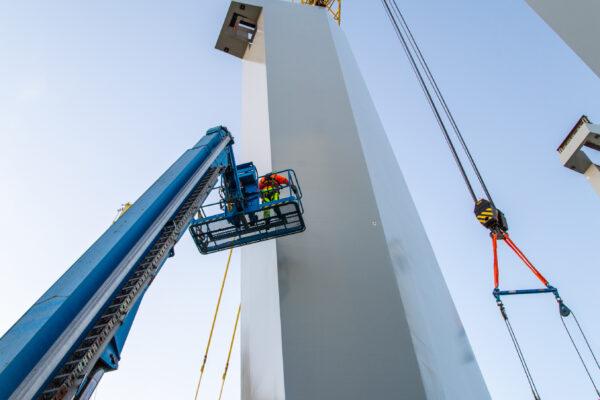 Nya Hisingsbron. Avlastning pylon