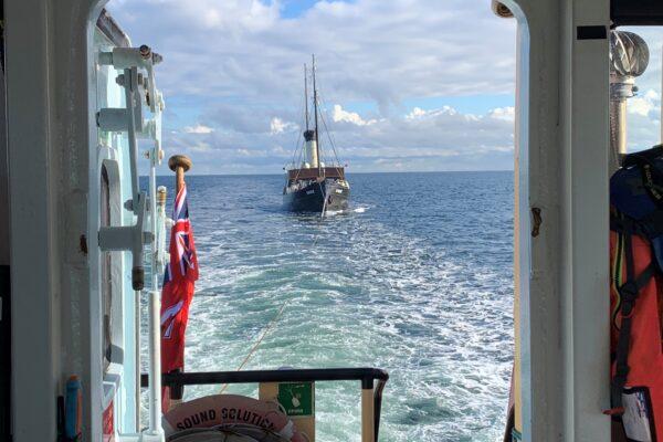 towing steam ship Bore from Simrishamn to Malmo